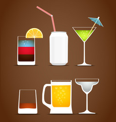 Drinks clip art vector image vector image