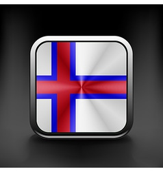 Faroe Islands icon flag national travel icon vector image vector image