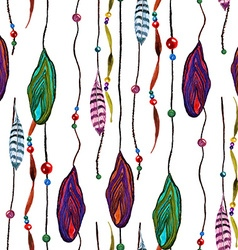Feather and Agate pattern vector image vector image