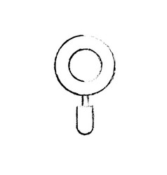 figure magnifying glass tool to explore and search vector image