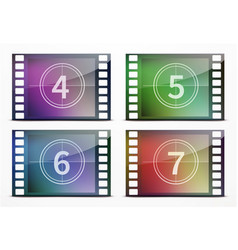 film screen countdown vector image vector image