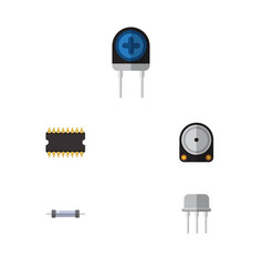 flat icon technology set of resistor vector image