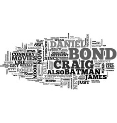 James bond rebuilt text background word cloud vector