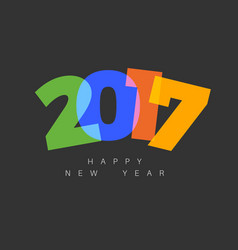 modern minimalistic happy new year card vector image vector image