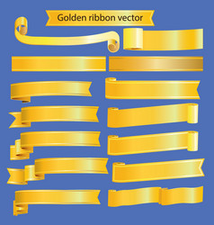 retro golden ribbon vector image vector image