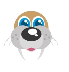 sea lion funny face isolated icon vector image