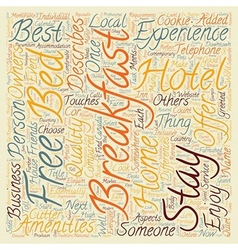 The Bed And Breakfast Experience text background vector image vector image