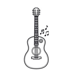 The guitar is a musical instrument image vector