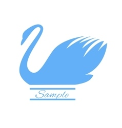 The image of a swan on a white background logo vector