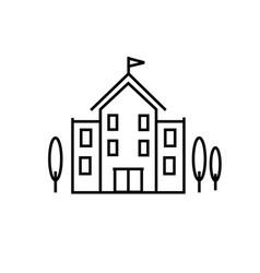 Univercity building icon vector
