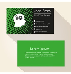 Green abstract dots business card design eps10 vector