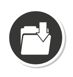 Folder file document isolated icon vector