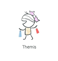 Themis vector image