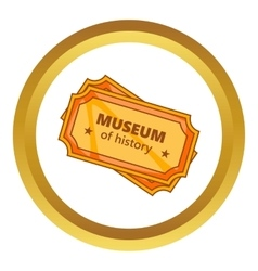Tickets to the museum of history icon vector
