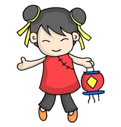 Cute character for chinese theme vector