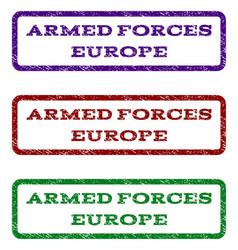 Armed forces europe watermark stamp vector