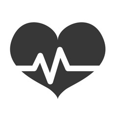 Heart beating pictogram vector