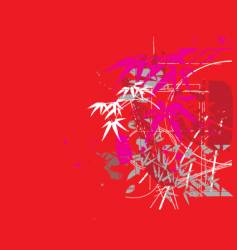 tropical jungle red vector image
