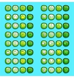 Green game icons buttons icons interface ui vector