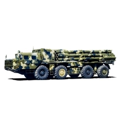 Smerch multiple launch rocket system mlrs vector