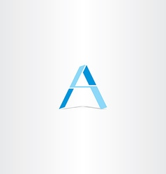Blue letter a geometric logo design vector