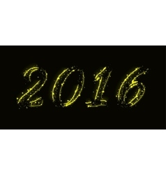New year date design vector