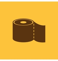 The toilet paper icon bathroom symbol flat vector