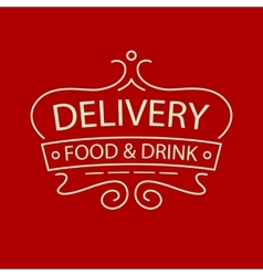Logo for delivery food and drink restaurant vector