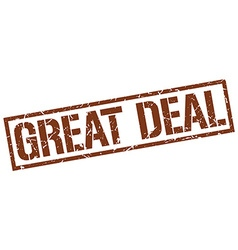 Great deal stamp vector