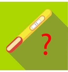 Pregnancy test icon flat style vector