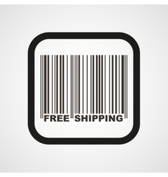 Barcode Icon Flat Simple vector image vector image