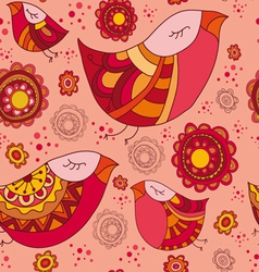 birdy spring pattern vector image