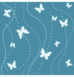 Butterflies pattern vector