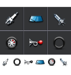 Car parts vector image