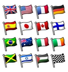 cartoon flags vector image