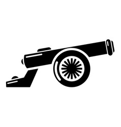 Cast-iron cannon icon simple style vector