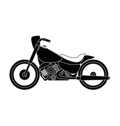 classic motorcycle vehicle icon vector image
