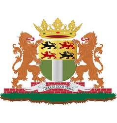 Coat of arms of rotterdam of netherlands vector