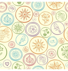 Colorful circles seamless pattern background vector image vector image