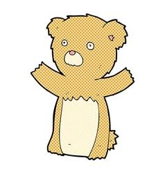 Comic cartoon teddy bear vector