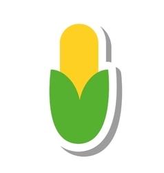 Corn vegetable healthy icon vector