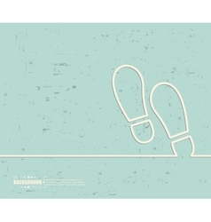 Creative footprint Art vector image vector image