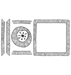 Ethnic African handmade ornament element vector image vector image
