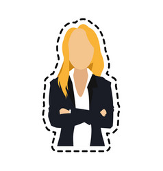 Faceless business woman icon image vector
