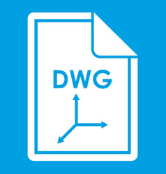 File dwg icon white vector