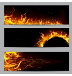 Fire flame template vector