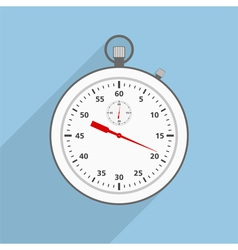 Flat Stopwatch vector image vector image