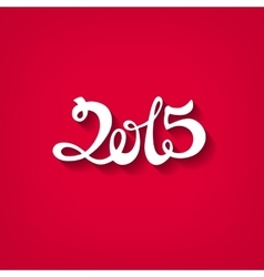 Flat style number 2015 with shadow vector image vector image