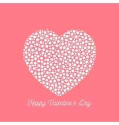 Happy Valentines Day - elegant graphic design card vector image vector image