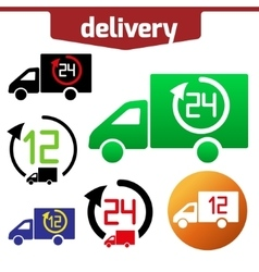 Icons set of Fast delivery The business vector image vector image